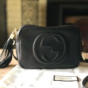 Authentic Gucci Soho Disco Bag with Samorga insert